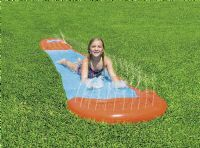 Bestway Children Kids 5.5m H2O Go Single Slider Water Slide Orange Blue